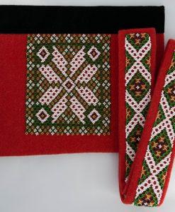 Mønster nr 53 i grønnt Belte 94 cm