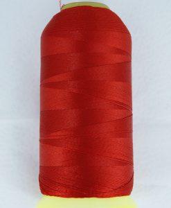 rød polyestertråd. 0,3 mm 1700 meter spole