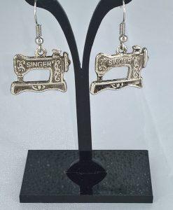 Singer symaskin øredobber i antikk sølv