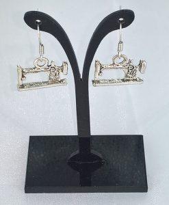 øredobber med sveive symaskin, antikk sølv