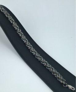 oxydert  armbånd kongekjede 1,0 mm