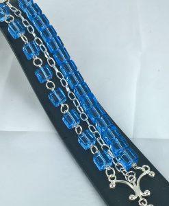 Vårglede lys blå armband