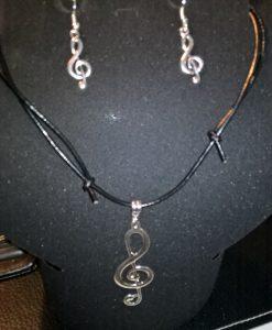 G- nøkkel smykkesett