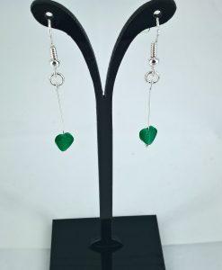 Grønne kattøye hjerteørepynt