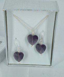 Swarowsky hjerter i lilla