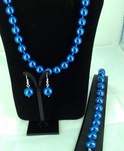 14 mm blå glassperler