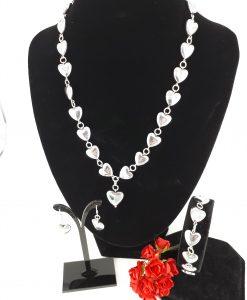 Nordlys smykkesett i sølv