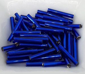 12 mm blå metalliske staver, nr 28