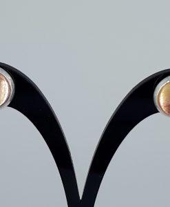 Brunrosa glass caboshon Ørestikk