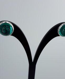 Sjøgrønn/ patrol glass caboshon med sarie