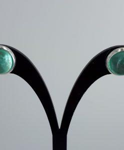 Lys grønne caboshon med sarie