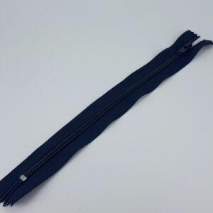 23;5-24 cm marineblå 4mm glidelås