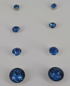 4pakning, lys blå, bling Ørestikk