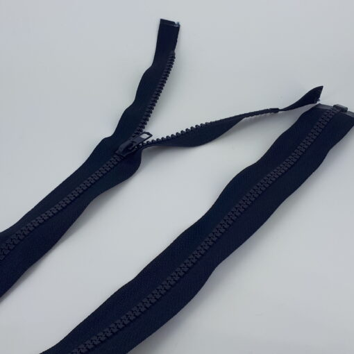 Marineblå kraftig glidelås åpen ende 77 cm