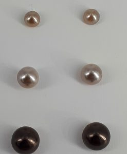 3- pakning nikkelfrie ørepynt i bruntoner