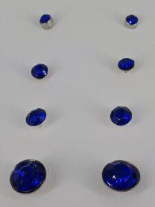 4 par mørk blå bling  ørepynt