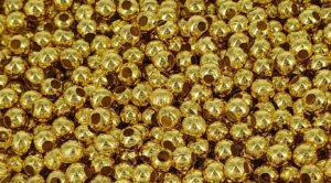 3 mm gullfargede  jernkuler