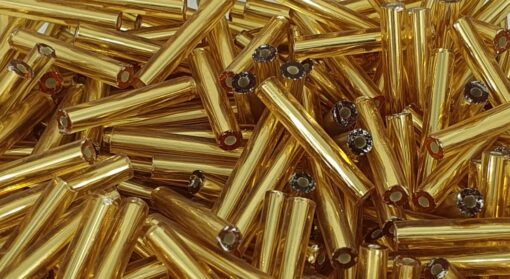 2x15 mm gullfargede staver