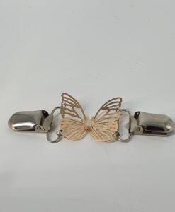 Jakkespenne sommerfugl med bling